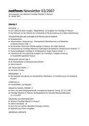 netfmm Newsletter 03/2007 - Oberösterreichischer Museumsverbund