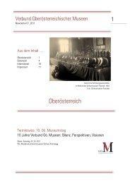 Newsletter Verbund Oö Museen Nr. 01/2011 - Oberösterreichischer ...