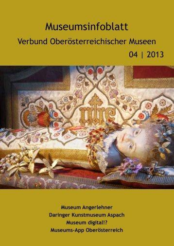 Museumsinfoblatt - Oberösterreichischer Museumsverbund