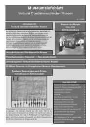 Museumsinfoblatt Nr. 01/2008 - Oberösterreichischer ...