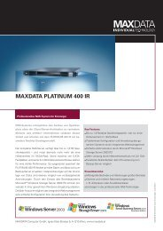 MAXDATA PLATINUM 400 IR