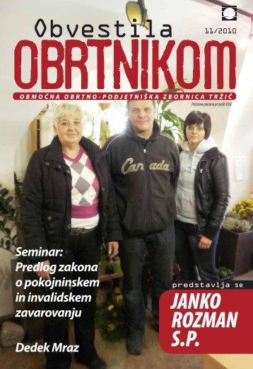 Obvestila november 2010 - Območna obrtno-podjetniška zbornica ...