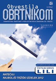 Obvestila marec 2012 - Območna obrtno-podjetniška zbornica Tržič