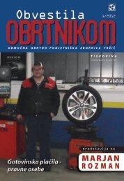 Obvestila januar 2012 - Območna obrtno-podjetniška zbornica Tržič