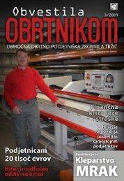 Obvestila marec 2009 - Območna obrtno-podjetniška zbornica Tržič