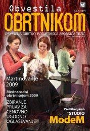 Obvestila oktober 2009 - Območna obrtno-podjetniška zbornica Tržič