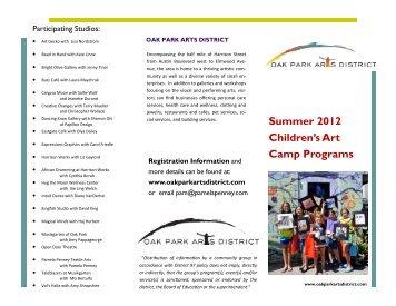 Summer 2012 Children's Art Camp Programs - Oak Park Elementary ...