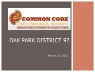 Common Core State Standards - Oak Park Elementary School ...