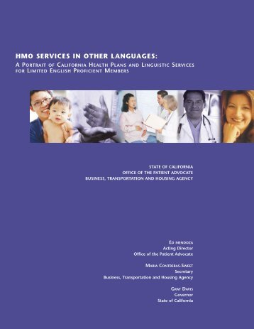 hmo services in other languages - Office of the Patient Advocate ...