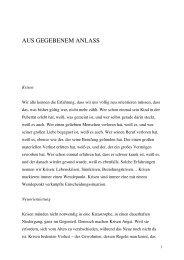 AUS GEGEBENEM ANLASS - Opaion