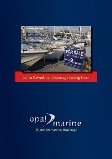 Brokerage Listing Form 11.10 8pp.indd - Opal Marine