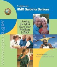 HMO Guide for Seniors - Office of the Patient Advocate - State of ...