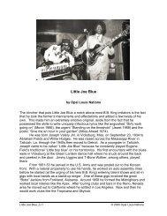 Little Joe Blue - Opal Louis Nations