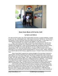 Down Home Music of El Cerrito, Calif. - Opal Louis Nations