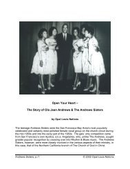 The Story of Ola Jean Andrews & The Andrews Sisters - Opal Louis ...