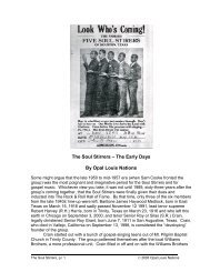 The Soul Stirrers – The Early Days By Opal Louis Nations