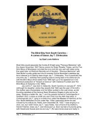 The Blind Boy from South Carolina – A cameo of basso Jay T ...