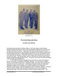 The Archie Reynolds Story - Opal Louis Nations