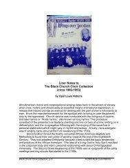 black church choirs, 1942-1953 - Opal Louis Nations