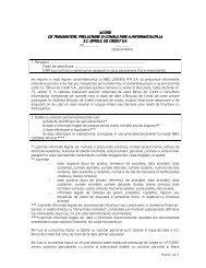 acord de transmitere, prelucrare si consultare a ... - Opel Erebus