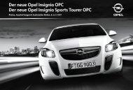 Der neue Opel Insignia OPC Der neue Opel Insignia ... - Opel-Infos.de