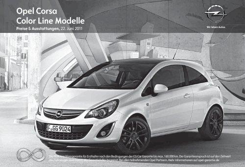 Opel Corsa Color Line Modelle - Opel-Infos.de