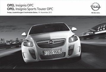 OPEL Insignia Sports Tourer OPC - Opel-Infos.de