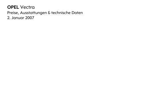 OPEL Vectra - Opel-Infos.de