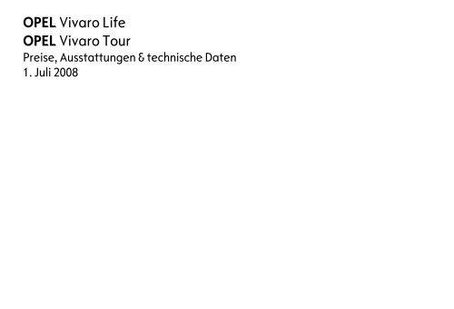 OPEL Vivaro Life OPEL Vivaro Tour - Opel-Infos.de