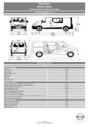 Opel Vivaro Double Cabine