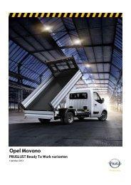Opel Movano PRIJSLIJST Ready to Work varianten