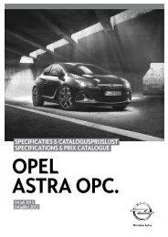 specificaties & catalogusprijslijst specifications & prix catalogue - Opel