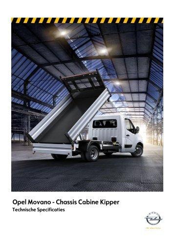 Opel Movano - Chassis Cabine Kipper