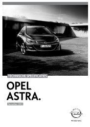 TECHNISCHE SPECIFICATIES - Opel