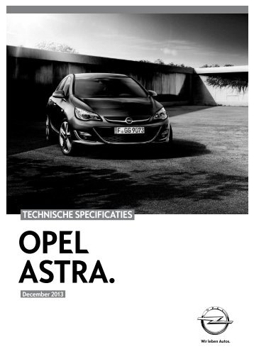 TECHNISCHE SPECIFICATIES - Opel