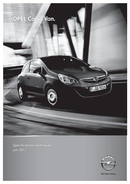 Spécifications techniques - Opel