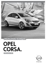 Fiche technique Opel Corsa (PDF)