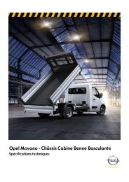 Opel Movano - Châssis Cabine Benne Basculante
