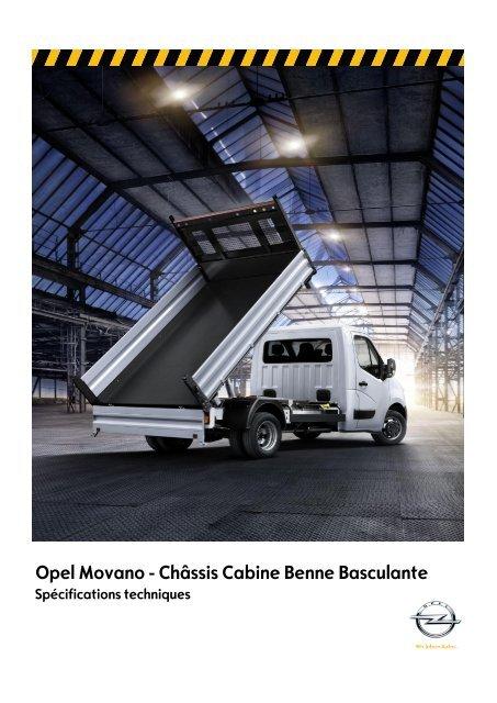 Opel Movano - Châssis Cabine Benne Basculante