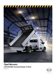 Liste de prix Movano Ready To Work - Opel