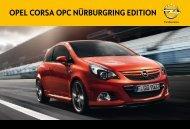 Opel Corsa OPC Nürburgring Edition Katalog