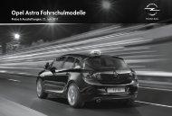 Opel Astra Fahrschulmodelle