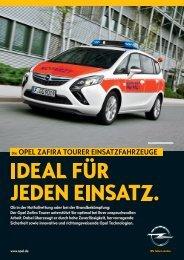 Flyer Zafira Tourer Rettungsfahrzeuge - Opel