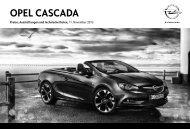 Opel Cascada Preisliste MY 14.5