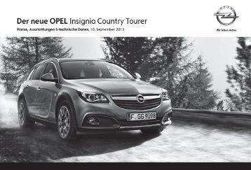 Preisliste - Opel