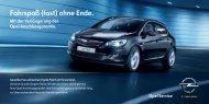 Fahrspaß (fast) ohne Ende. Fahrspaß (fast) ohne Ende. - Opel