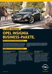 OPEL INSIGNIA BUSINESS-PAKETE.