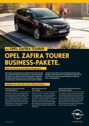 OPEL ZAFIRA TOURER BUSINESS-PAKETE.