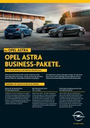 OPEL ASTRA BUSINESS-PAKETE.