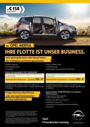 Ihre Flotte Ist unser BusIness. - Opel